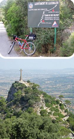 Cycling in Mallorca: 4 Hermitages. Llucmajor - Randa - Monasteri de Cura - Randa - Montuiri - Sant Joan - Petra - Ermita Nrta. Sra. de Bonany - Felanitx - Monasteri Sant Salvador - Porreres - Monasteri de Montision