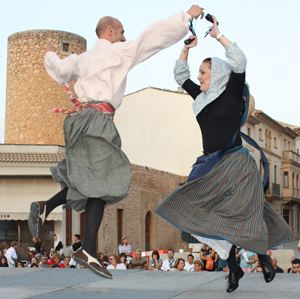 "The ""Boleros i Copeos Mallorquins"", traditional folk dance in Mallorca"