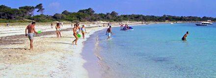Playa «Es Carbó», entre la Colònia de Sant Jordi y Ses Salines