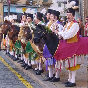 Cavallets de Mallorca. Danzas mallorquinas de caballitos.