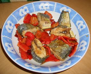 Dolphinfish with peppers
