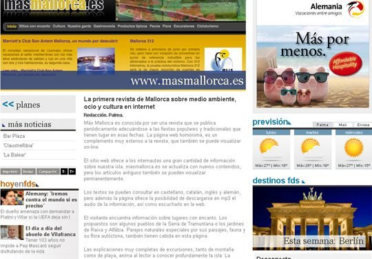 Mallorca's first magazine about environment, leisure and culture