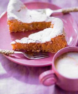 Almond cake, original Islander heritage, Mallorca