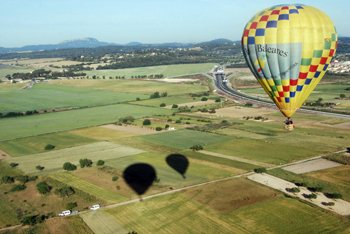 Hot air balloon trips from Manacor to the most beautiful parts of Mallorca