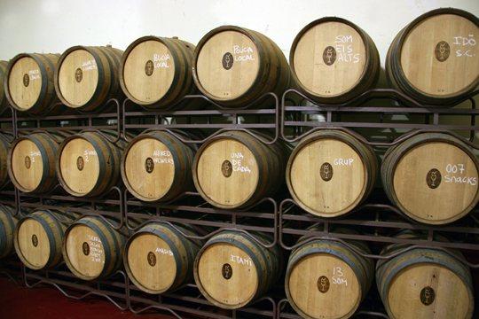 vinos-wines-galmes-i-ribot-mallorca-barricas