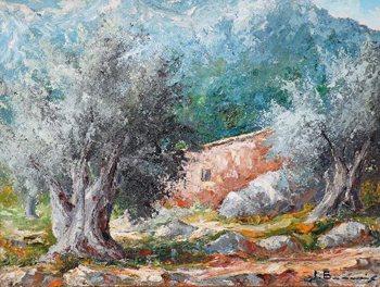 La-pintura-en-Mallorca-Olivos-Joan-Borras
