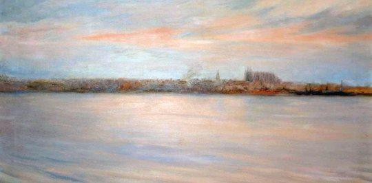 La-pintura-en-Mallorca-Vista-de-Palma-a-la-sortida-des-sol-Joan-Fuster
