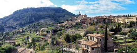 The picturesque village of Valldemossa