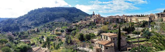 The picturesque village of Valldemosa