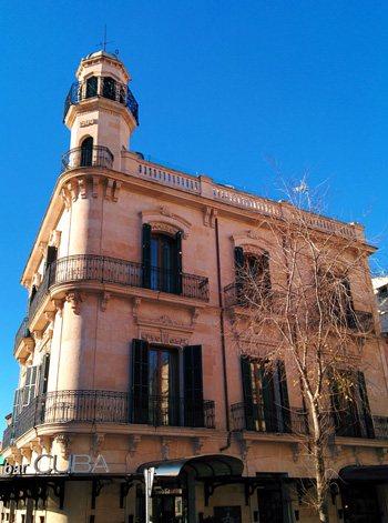 El barrio de Santa Catalina, Hostal Cuba. Palma de Mallorca