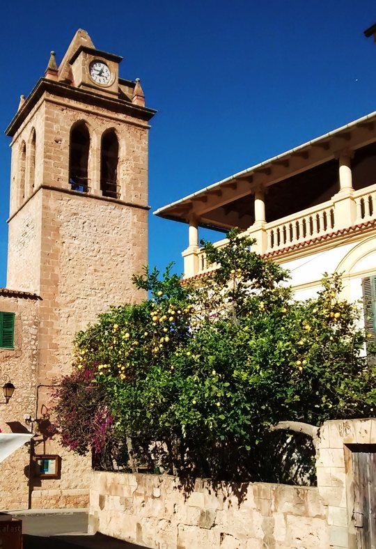S'Arracó, Mallorca. Church.