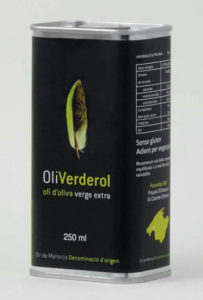 Verderol Extra virgin olive oil with Majorcan designation of origin