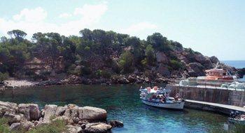 Sa Dragonera, embarcadero, Mallorca