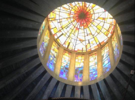 iglesia-de-cristal-la-Porciuncula-cupula-mallorca-2
