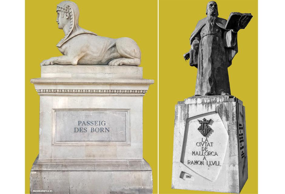 Passeig entre les escultures de Palma