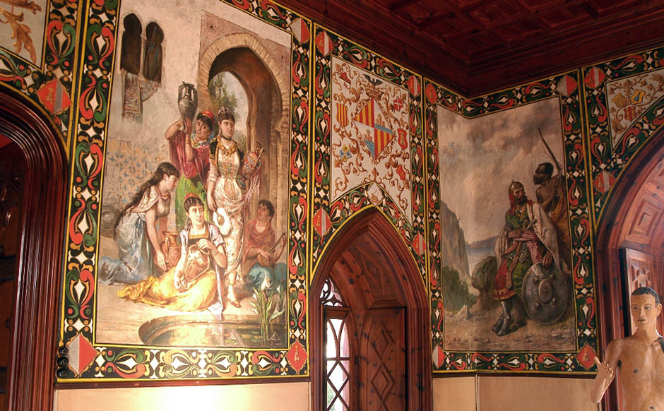 Bendinat Castle, wall tapestries