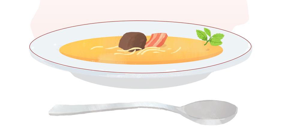 Fava Parada – Cremesuppe aus Ackerbohnen mit Nudeln