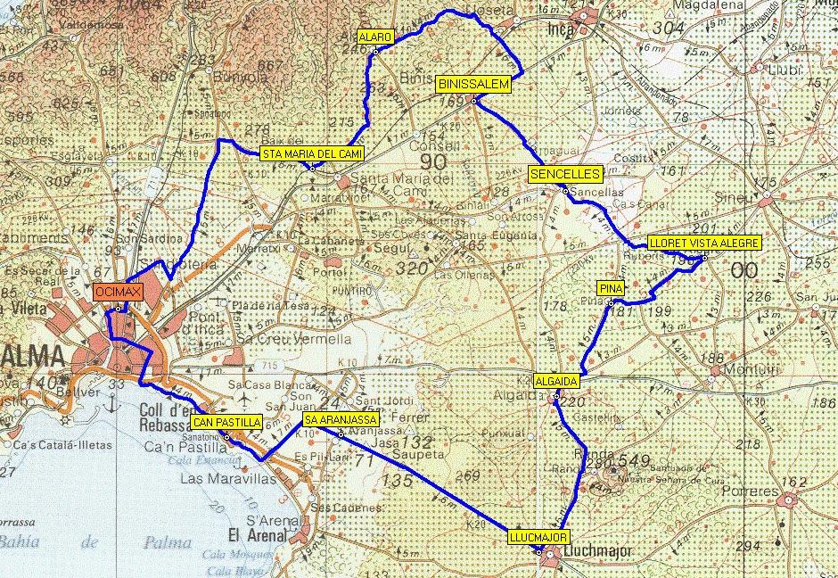 Ruta Palma - Lloret de Vistalegre