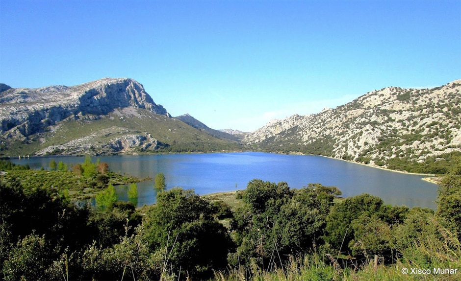 The Cúber and Gorg Blau reservoirs, at the foot of Puig Major
