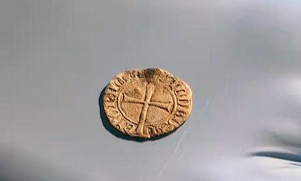Moneda del Siglo XIV encontrada en Manacor